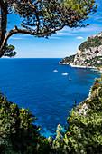 View of Marina Piccola Bay, Capri Island, Gulf of Naples, Italy