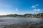 View from the Elbe to the stair quarter in Blankenese, Hamburg, northern Germany, Germany