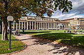 Königsbau am Schlossplatz in Stuttgart, Baden-Württemberg, Deutschland