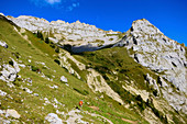 Hikers in the Pilatus Mountains. Pilate. Lucerne. Switzerland