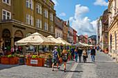 Restaurants on Strada Nicolae Balcescu, Brasov, Transylvania, Romania