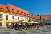 Restaurant on the Piata Mare, Sibiu, Transylvania, Romania