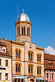 Orthodox cathedral at Piata Sfatului, Brasov, Transylvania, Romania