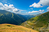 View of the Transfagarasan Strait, Carpathian Mountains, Wallachia, Romania