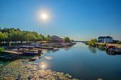 Sfantu Gheorghe Harbor, Danube Delta, Biosphere Reserve, UNESCO World Heritage Site, Dobruja, Romania