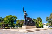 Victory monument in Parcul Primăriei in Constanta, Dobruja, Black Sea coast, Romania