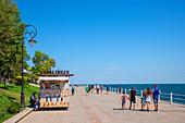 Seafront promenade in Constanta, Dobruja, Black Sea coast, Romania
