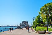 Promenade with casino in Constanta, Dobruja, Black Sea coast, Romania