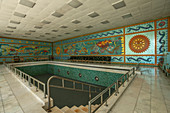 Swimming pool in the Primavera Palace, former palace of Nicolae Ceausescu, Bucharest, Wallachia, Romania