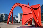 Art installation Red Spider in front of La Grande Arche, La Defense, Paris, France