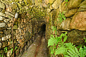 Old mine tunnel, Galeria St. Barbara, Barbarastollen, Centro Minerario, Valle Imperina, Agordo, Bellunesian National Park, Dolomites, Dolomites, UNESCO World Heritage Dolomites, Veneto, Italy