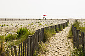 deserted sandy beach, Marana, near Bastia, Haute-Corse, Corsica, France