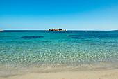 Beach and granite cliffs, Palombaggia, Porto Vecchio, Corse-du-Sud, Corsica, France