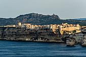 Steep coast and chalk cliffs, Bonifacio, Corse-du-Sud, Corsica, France