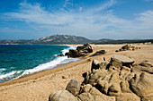 Einsamer Strand, Roccapina, bei Sartène, Département Corse-du-Sud, Korsika, Frankreich