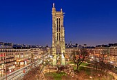 France, Paris, the Saint Jacques tower