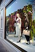 France, Paris, Luxury shops on Montaigne Avenue, Dior