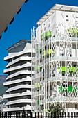 France, Isere, Grenoble, Polygone Scientifique quarter, Residence Les Terrasses de Rive Gauche consists of 11 Low Energy Consumption Buildings