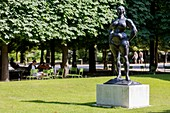 France, Paris, area listed as World Heritage by UNESCO, the Tuileries Gardens, listed as historical monuments in 1914 sculpture Standing Woman 1932 by Gaston Lachaise
