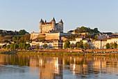 France, Maine et Loire, Loire Valley listed as World Heritage by UNESCO, Saumur, castle of Saumur along the Loire river, regional natural park of Loire Anjou Touraine