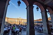 France, Haute Garonne, Toulouse, cafe terrace on Capitole Square