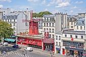 Frankreich, Paris, Distrikt Pigalle, Moulin Rouge