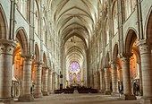 France, Aisne, Laon, inside Notre Dame Cathedral