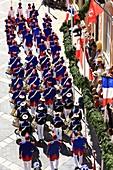 France, Var, Saint Tropez, Place de l'Hotel de Ville, Bravade
