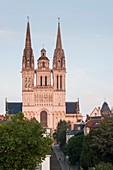 France, Maine et Loire, Angers, the Romanesque and Gothic 12th century Saint Maurice Cathedral