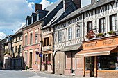 France, Eure, Saint Georges du Vievre, typical timbered houses
