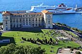 Frankreich, Bouches du Rhône, Marseille, Palais du Pharo-Gärten, Desordre, Arbeit Bernar Venet am Nationaltag