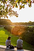 France, Paris, area listed as World Heritage by UNESCO, the gardens of the Louvre Carrousel