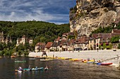 France, Dordogne, Black Perigord, La Roque Gageac, labelled The Most Beautiful Villages of France