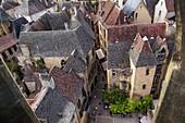 Blick über die Altstadt, Sarlat-la-Caneda, Dordogne, Frankreich