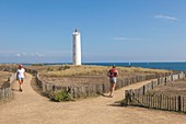France, Vendee, Saint Gilles Croix de Vie, Grosse terre Lighthouse