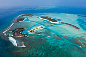 Holiday island Dhigufinolhu and Veligandu, South Male Atoll, Indian Ocean, Maldives