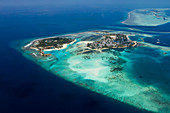 Guraidhoo indigenous island and Kandooma tourist island, South Male Atoll, Indian Ocean, Maldives