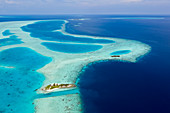 Uninhabited island at Bodumohora, Felidhu Atoll, Indian Ocean, Maldives