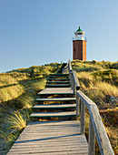 Lighthouse cross mark fire Rotes Kliff, Sylt, Schleswig-Holstein, Germany