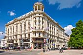 Krakowskie Przedmiescie Straße, historisches Bristol Hotel, Warschau, Polen, Europa