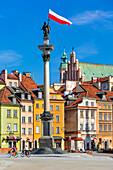 Castle Square, historic square in front of the Royal Castle, King Sigismund's Column from 1644, old town, Warsaw, Mazovia region, Poland, Europe\n\nWarszawa, Mazowieckie\nStare miasto, kolumna krola Zygmunta, plac zamkowy\n\n