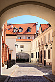 Dziekania street at the back of Warsaw's cathedral, Old Town, Warsaw, Mazovia region, Poland, Europe