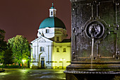 Warsaw Monastery of Benedictine Nuns of Perpetual Adoration of the Blessed Sacrament, church of St Casimir, New Market Square, old town, Warsaw, Mazovia region, Poland, Europe