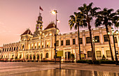 Former Saigon City Hall at sunset (Ho Chi Minh City)