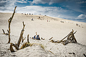 Sand dunes in Slowinski National Park close to Leba, shore of Baltic Sea (Ostsee). Park has been included by UNESCO in the World Network of Biosphere Reserves.