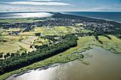 Luftaufnahme von Leba, Ostseeküste, Polen, Europa