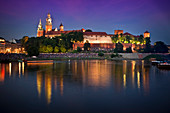 Wawel castle in Cracow is the second largest and one of the oldest cities in Poland.