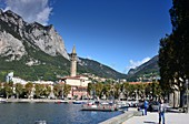 on the waterfront promenade of Lecco on the east side, Lake Como, Lombardy, Italy