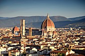 View from Piazza Michelangelo of the Duomo and Florence, Toscana, Italy