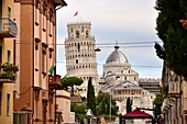 View of Battistero, Duomo and Leaning Tower, Pisa, Toscana, Italy
